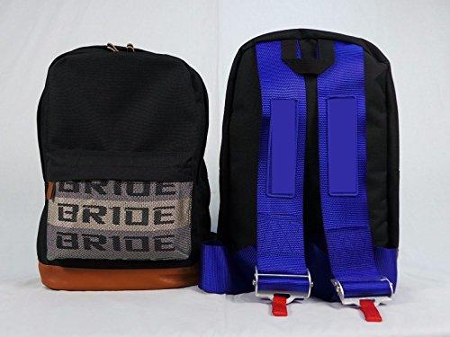 FatCatRacingProducts Bride JDM Racing Rucksack Racing Harness Schultergurte Reißverschlusstaschen mit Gepolstertem Computerfach