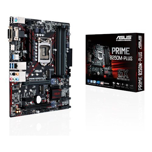 ASUS PRIME B250M-PLUS Scheda Madre, Socket 1151 mATX, Dual M.2, USB 3.0