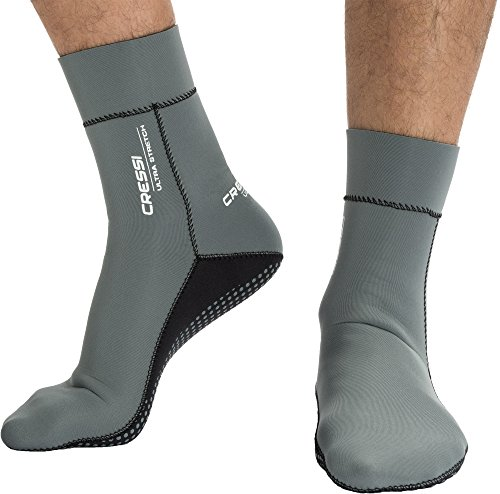 Cressi Ultra Stretch Neoprene Socks Neoprensocken, Grau/Weiß, Medium