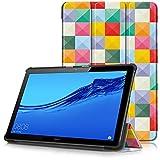 Huawei MediaPad T5 10 Funda, Carcasa Ultra Delgado y Ligero con Cubierta de Soporte para Huawei MediaPad T5 - Tablet 10.1' Full HD Modelo de 2018, Cubo Colores