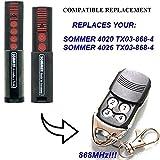Sommer 4020TX03–868–4Kompatibel 868,8MHz Fernbedienung Ersatz, 868,8MHz. TOP QUALITÄT Slider Transmitter. 100% kompatibel mit 868,8MHz Sommer-Fernbedienung. Rolling Code.