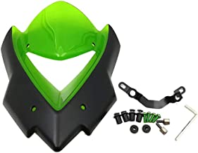 Intake Vent Windshield Windscreen Airflow Touring Screen Odometer Visor w/Mount Support Bolts for Kawasaki Z1000 2014 2015 2016 2017 2018 2019 (Green)