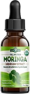 Organic Moringa Oleifera Extract Drops - USDA Certified Single Origin Moringa Glycerin Extract from Nicaragua. Optimum Abs...