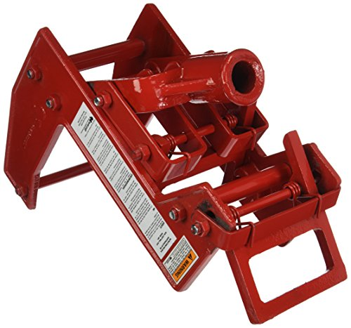 Qualcraft 2601 Portable Wall Jack, for Use with 1-1/2 X 3-1/2 in Fir Poles Or 1 in Od Steel Pipe, Malleable Iron, Red