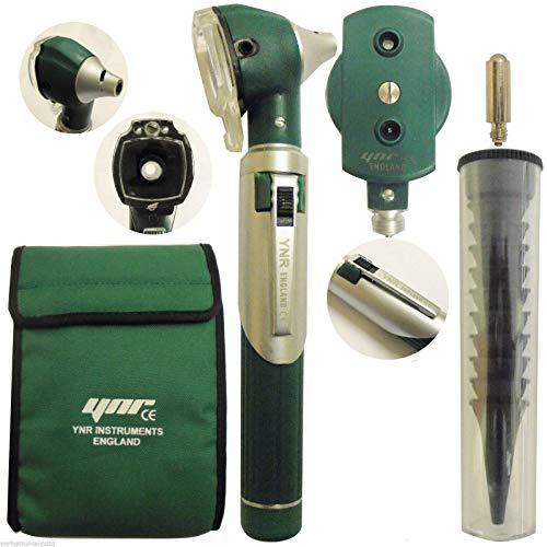 Ynr England® F. o Mini Otoscopio Auriscope Fibra Óptica Ent Médico Examen Diagnóstico Nhs Gp Marca Ce Aprobado Nuevo - Verde