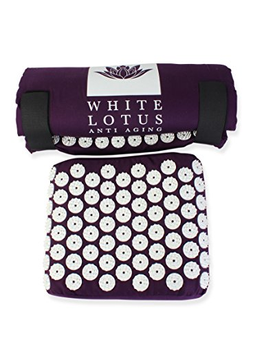 White Lotus Tapis Acupression + Coussin | Kit...