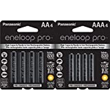 Panasonic Eneloop Pro AA and AAA High Capacity Ni-MH Pre-Charged Rechargeable Batteries Bundle (4 Pack of Each)