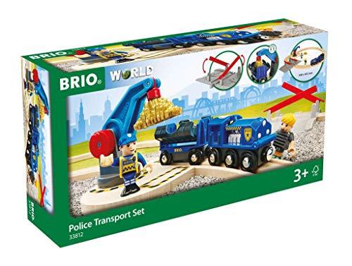 BRIO Bahn 33812 - Polizei Goldtransport-Set