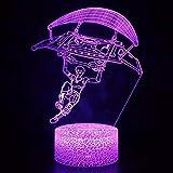 Fantastico personaggio del gioco comico Luce notturna a LED Illuminazione novità RGB per bambini Regali per bambini per bambini Lampada da tavolo con decorazione 3D