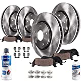 Detroit Axle - All (4) Front and Rear Disc Brake Kit Rotors w/Ceramic Pads w/Hardware & Br...
