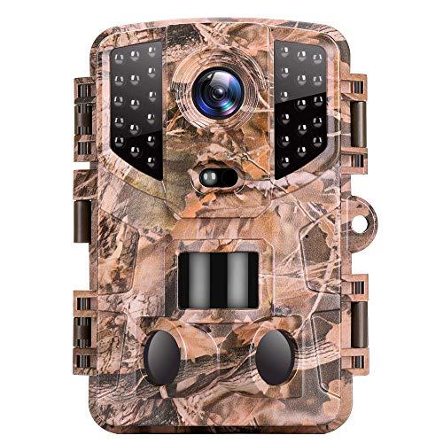 VanTop Ninja 1 Wildkamera 20MP 1080P Full HD Wildkamera mit Bewegungsmelder Nachtsicht, wasserdichte Wildtierkamera mit 3 Infrarotsensor 120 ° Erfassungsbereich für die Überwachung von Wildtieren