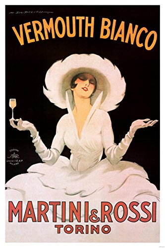 Marcello Dudovich Vermouth Bianco Martini and Rossi Art Print Poster - 24x36 Collections Poster Print, 24x36