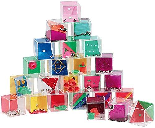 Equilibre et Aventure Lot de 24 Cubes Casse-tête différents. Idéal Cadeau, soirée, Banquet, Repas en Famille, Anniversaire, Mariage, etc
