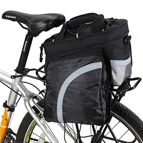 Bolso de la bicicleta de la bicicleta Porta equipaje de bicicletas del tronco, de gran capacidad a prueba de agua del asiento posterior de la bicicleta de equipaje adecuado for el ciclismo Viajes mult