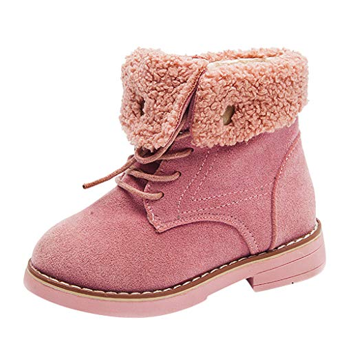 ABsoar-Baby Kleinkind Mädchen Jungen Winterschuhe Turnschuhe High Top Sneakers Coole Stiefeletten Warme Winterstiefel Freizeitschuhe(Rosa,30 EU)