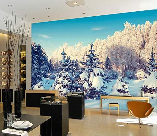 3D Stereo grote muurschildering winter sneeuw 3D behang slaapkamer bank TV achtergrond muur 3D behang 200×150cm
