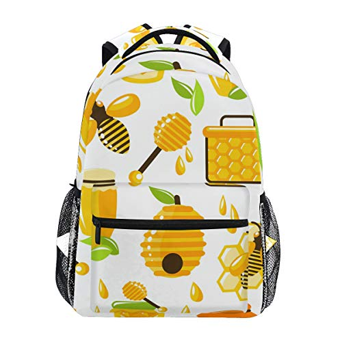 Rucksack mit Bienenenmotiv, für Reisen, Wandern, Camping, Laptop, Tagesrucksack