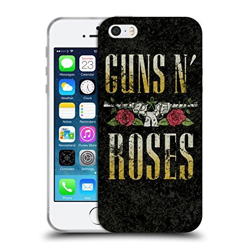 Head Case Designs Licenza Ufficiale Guns N' Roses Logo Pistola Testo Arte Chiave Cover in Morbido Gel Compatibile con Apple iPhone 5 / iPhone 5s / iPhone SE 2016