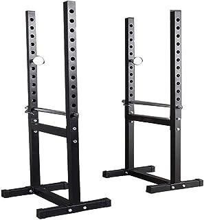Split Squat Rack, Adjustable Barbell Rack Bench Press Rack Weight Training Equipment Home Fitness Equipment Weight Trainin...