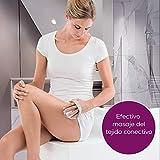 Beurer CM 50 - Ergonómico masajeador para celulitis, 2 intensidades de masaje, estimula circulación sanguínea, correa ajustable, rodillo extraíble, 75 x 92 x 125 mm, color blanco