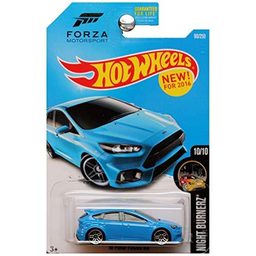Hot Wheels 2016 Night Burnerz Forza Motorsport '16 Ford Focus RS 90/250, Blue