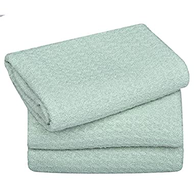 Sinland Microfiber Dish Drying Towels Dish Towels Waffle Weave Kitchen Towels 16 Inch X 24 Inch 3 Pack Light Jade