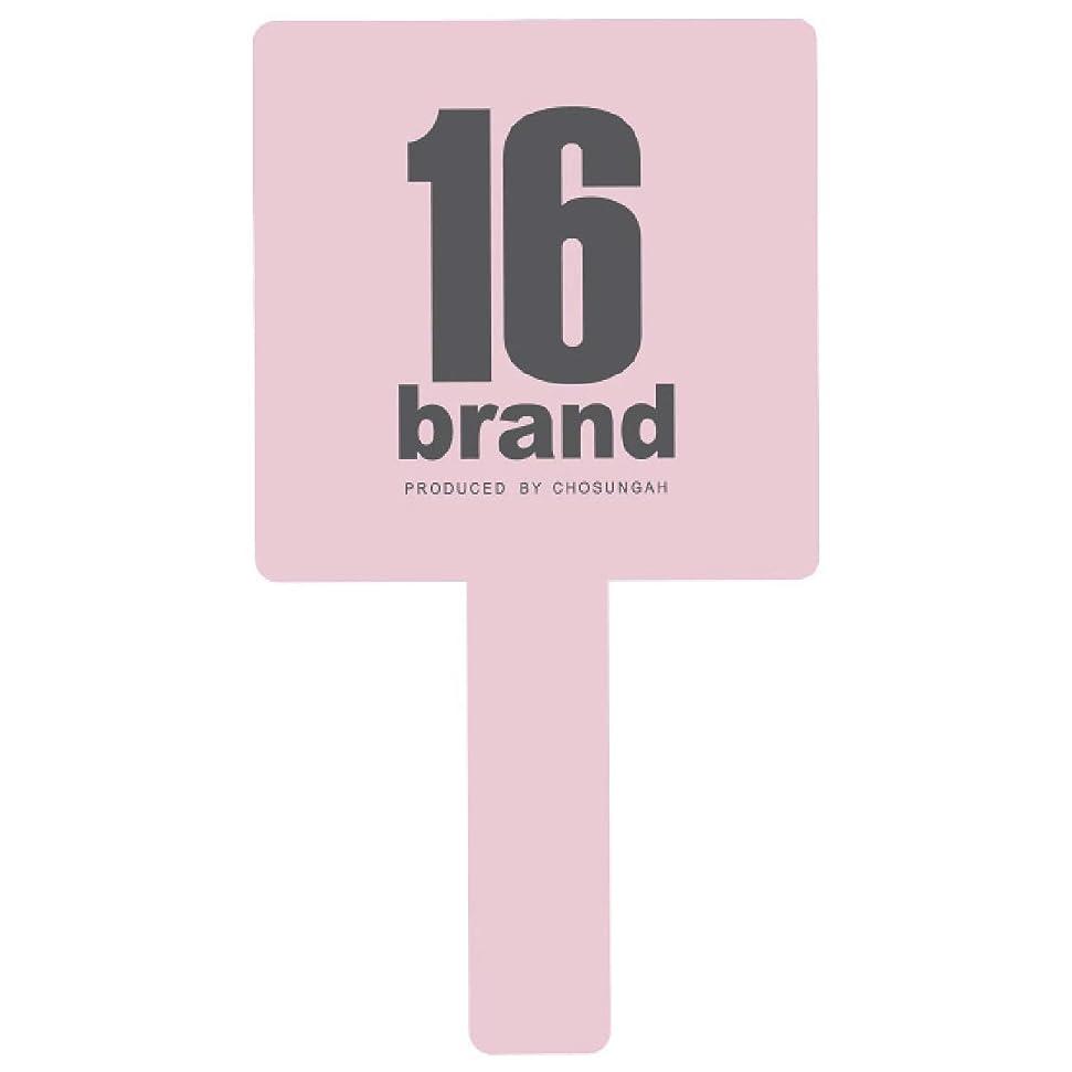 揺れる簡略化する動的16brand(シックスティーンブランド) GANGS HAND MIRROR(ギャングス ハンドミラー) BABY PINK (1個)