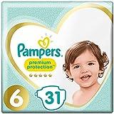 Pampers Premium Protection, taglia 6, confezione da 31pannolini (etichetta in lingua italiana non garantita)
