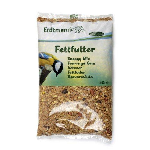 Erdtmann's Vogelfutter, Fettfutter, 1,0 kg Hauptfutter für Winter oder Beifutter zum Mischen
