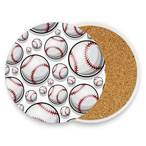Baseball Softball Untersetzer für Getränke 1 Stück Set Sport Basketball Bar Tasse Untersetzer Kaffeetasse Glas Pad Tischplatte Schutzmatte für Einweihungstisch Küche Esszimmer Home Decor