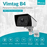 Vimtag IP White Light Security Camera | 2MP HD Outdoor Waterproof Surveillance Camera with Night Vision Spotlight + 2-Way Real Time Audio | Stream On Phone & Tablet & Computers, Compatible with Alexa