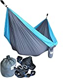 Cutequeen Trading Parachute Nylon Fabric Hammock with Tree Straps;Color: Dark Green/Fruit Green