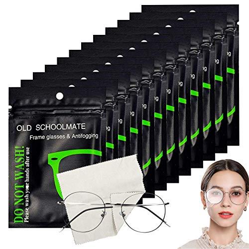 12 pcs Toallitas Antivaho,Paños Microfibra Gafas,Toallitas Antivaho para Gafas,Gamuza de Limpiador para...
