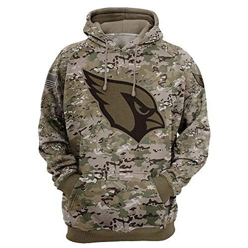 NFL Amerikanisch Fußball Arizona Cardinals Schnelltrocknend Tarnung Sport T-Shirt Trikot Logo Sweatshirt Kapuzenpullover