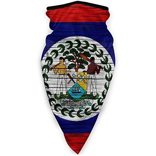 Wooden Texture Belize Belizean Flag Bandana Face Dust Mask for Women Men Headband Head Wrap Clothes Dress Half Balaclava Clothing Accessories Head Wrap Apparel Scarf