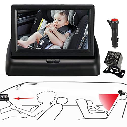 Wenyounge Rücksitzspiegel Für Babys, Babyschalenspiegel Auto Baby, Bruchsicherer Auto-Rückspiegel Für Babyschale, 360° Schwenkbar, Geeignet Für Alle Arten Von Autos