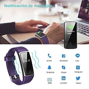 YAMAY Pulsera de Actividad Inteligente Impermeable IP68 con 14 Modos de Deporte,Pulsera Inteligente con Pulsómetro, Blood Pressure, Sueño,Podómetro,Pulsera Deporte para Android y iOS Teléfono móvil