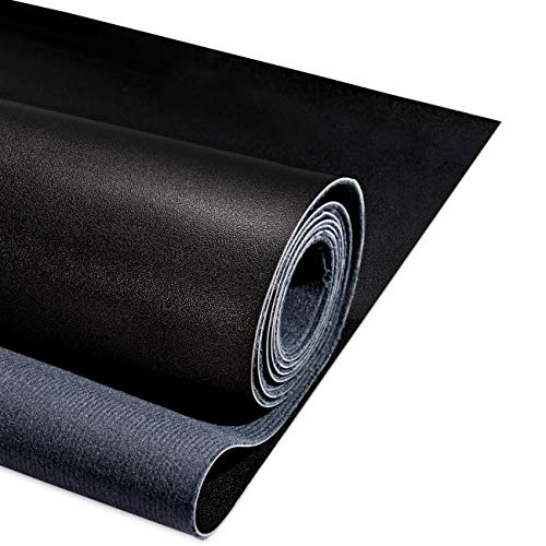 """Yotache PU Fabric Leather 1 Yard 54"""" x 36"""", 1.25mm Thick Faux Synthetic Leather Material Sheets for Upholstery Crafts, DIY Sewings, Sofa, Handbag, Hair Bows Decorations, Black"""