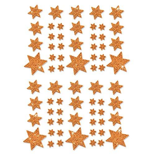 Oblique-Unique® Weihnachts Sterne Sticker Aufkleber - Deko Weinachten - Farbe wählbar (Champagner)