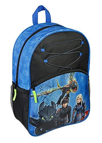 Kinderrucksack Kindergartentasche Kindergartenrucksack Schulrucksack mit Vortasche Lizenz Rucksäcke Motiv kompatibel mit Dragon-Dragons - für Jungen im Schule Kindergarten oder Kita