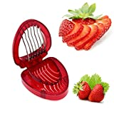 Simply Slice Strawberry Slicer Cutter, Hangang Kitchen Cutter Gadgets Kitchen Tool Mini Fruit Slicer with 7 Stainless Steel Blade Craft Tools
