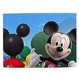 Jigsaw Puzzle Mi-ck-ey Mo-use Rompecabezas de madera Juegos para adultos Rompecabezas familiar Rompecabezas para niños, Actividad contra el aburrimiento, Rompecabezas Desafiante juego de rompecabezas
