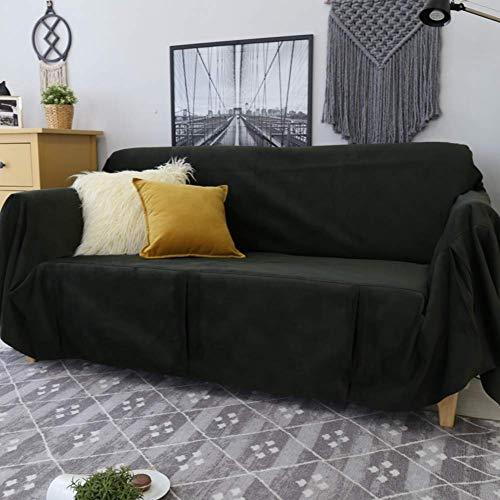 H-CAR Funda de sofá de Color sólido, Protector de Muebles Universal de 1 Pieza Four Seasons, Protector de sofá Suave Antideslizante para 1 2 3 sillón de cojín de sofá-a 180x300cm (71x118inch)
