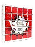 English Tea Shop Organic Christmas Advent Calendar Holiday Collection -25 Individual Boxes Organic Premium Tea Gift Set 50g