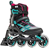 Rollerblade Macroblade 84 ABT Women's Adult Fitness Inline Skate, Emerald Green and Cherry, Performance Inline Skates, Emerald Green/Cherry, US Women's 9