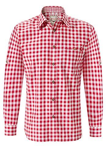 Stockerpoint Herren Hemd Mitchel Freizeithemd, Rot (rot), Large