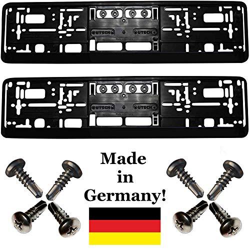 Kennzeichenhalter KURZ - Satz - ROT 2 St/ück 460 mm Leiste ! 46 cm PREMIUMQUALIT/ÄT!