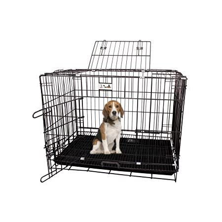 Jainsons Pet Products® Black Cage/Crate/Kennel with Removable Tray for Dogs/Cats, 30 inch