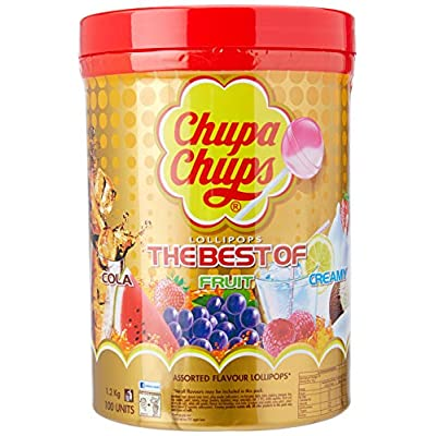 chupa chups the best of lollipop tube,1.2 kg(pack of 100) Chupa Chups The Best Of Lollipop Tube (Pack of 100) 51jB8zgB CL
