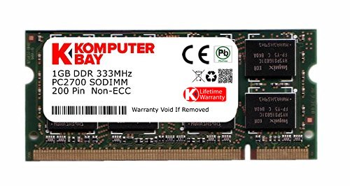 Komputerbay 1Go DDR (200 broches) 333Mhz DDR333 PC2700 SODIMM mémoire d'ordinateur portable